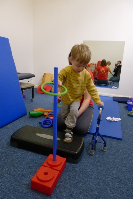 Improving his co-ordination and balance